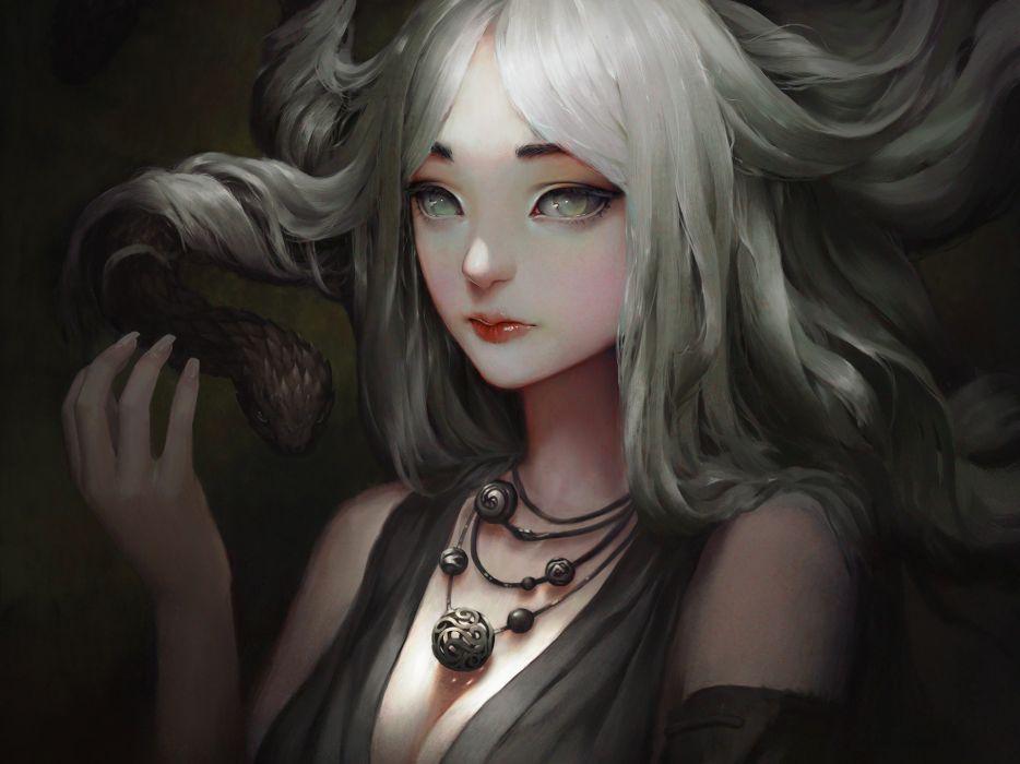 fantasy original artistic woman girl women female wallpaper