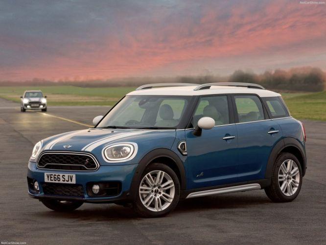 Mini 2017 Countryman Cooper (S) ALL4 suv cars blue wallpaper