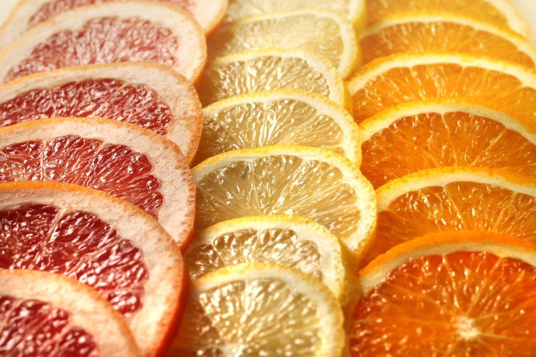 citrus grapefruit slices orange lemon fruits red yellow wallpaper