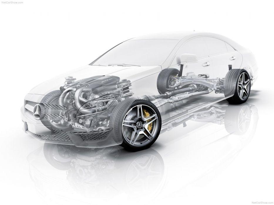 Mercedes-Benz CLS63 AMG 2012 W218 Cutaway wallpaper