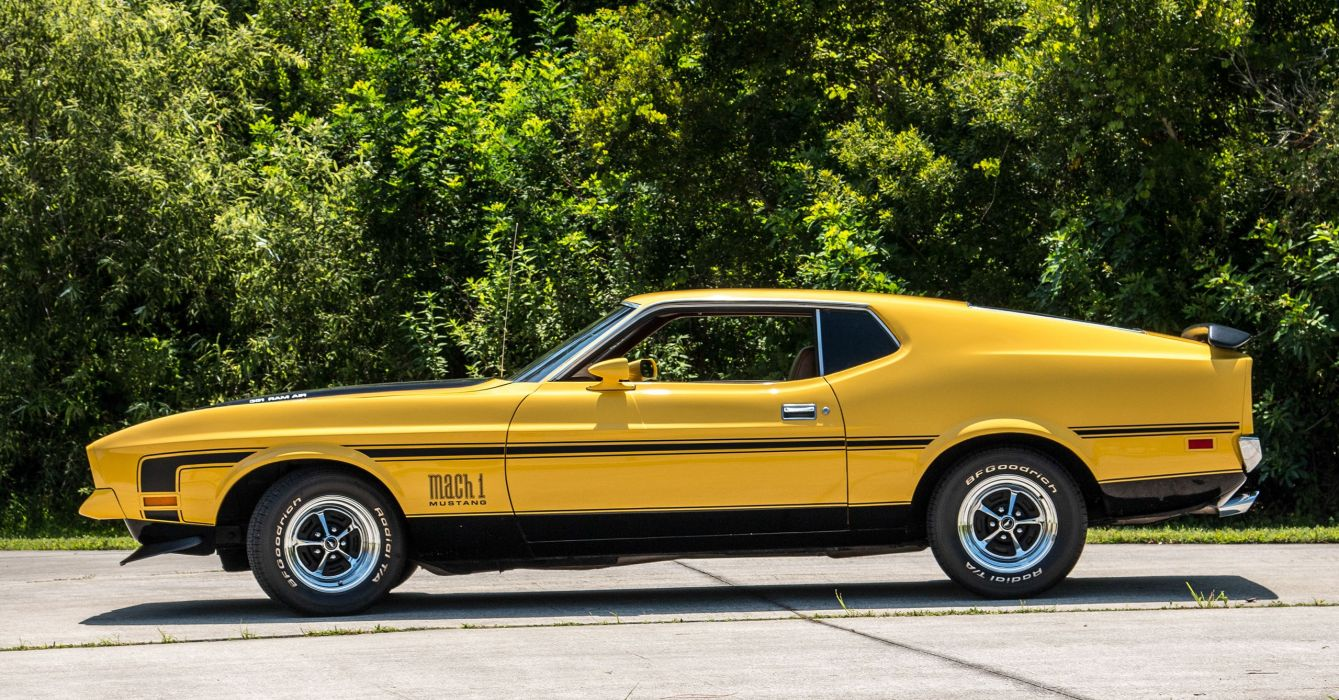 1972 FORD MACH-1 MUSTANG cars fastback yellow wallpaper