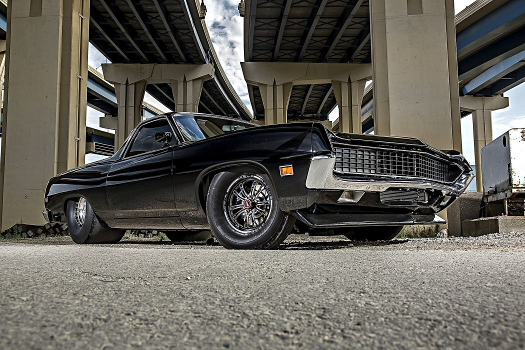 1970 Ford Ranchero cars pickup black wallpaper