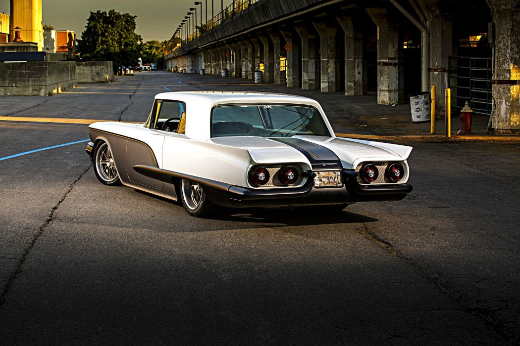 1958 T-Bird cars modified wallpaper
