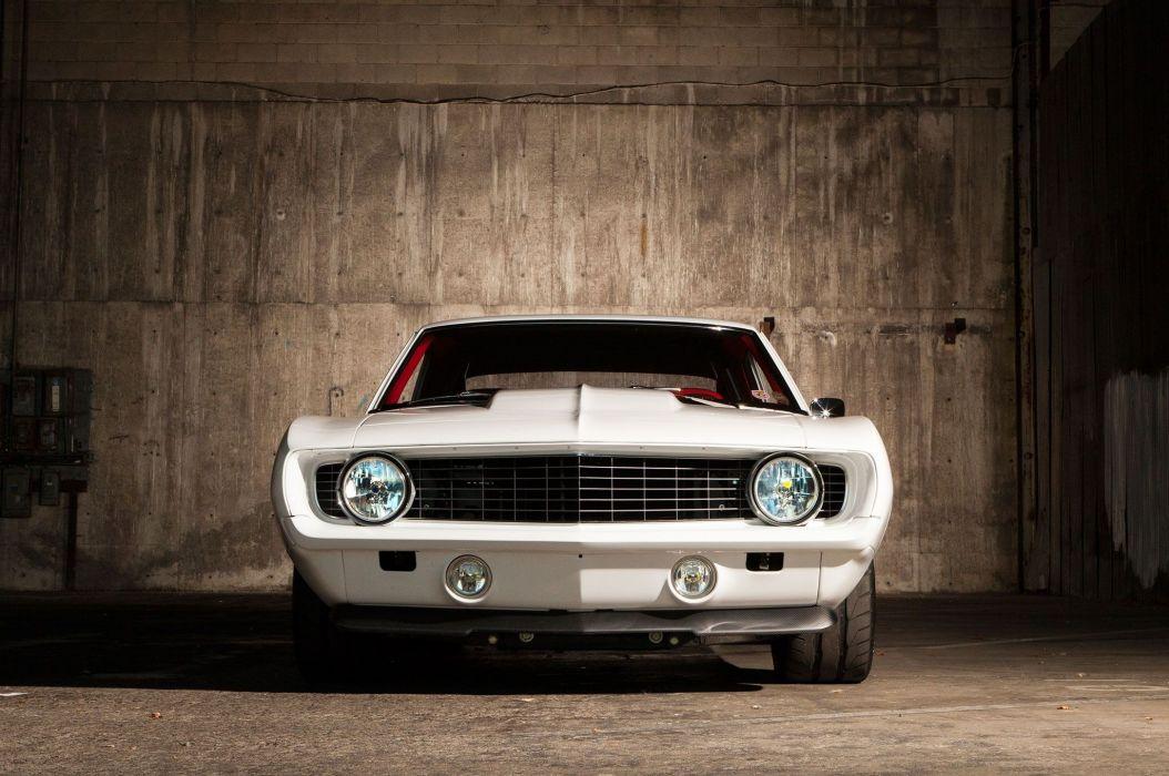 1969 Pro Touring chevy Camaro black wallpaper