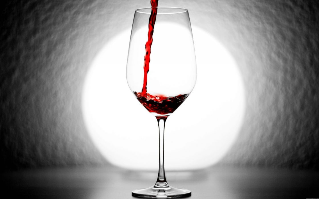 Copa vino tinto vidrio wallpaper