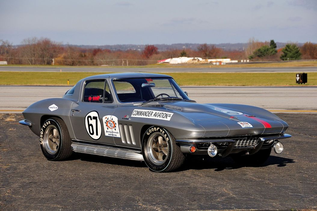 1966 chevy Corvette (c2) Race Cars wallpaper