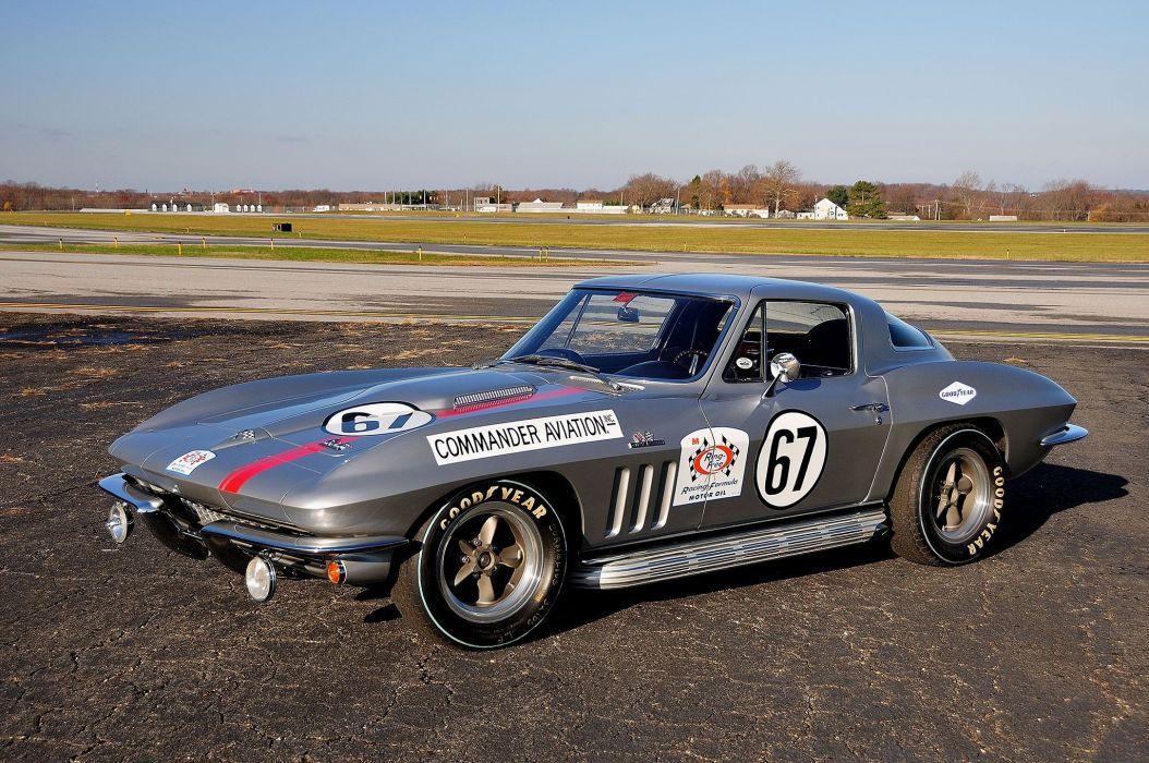 1966 chevy Corvette (c2) Race Cars wallpaper