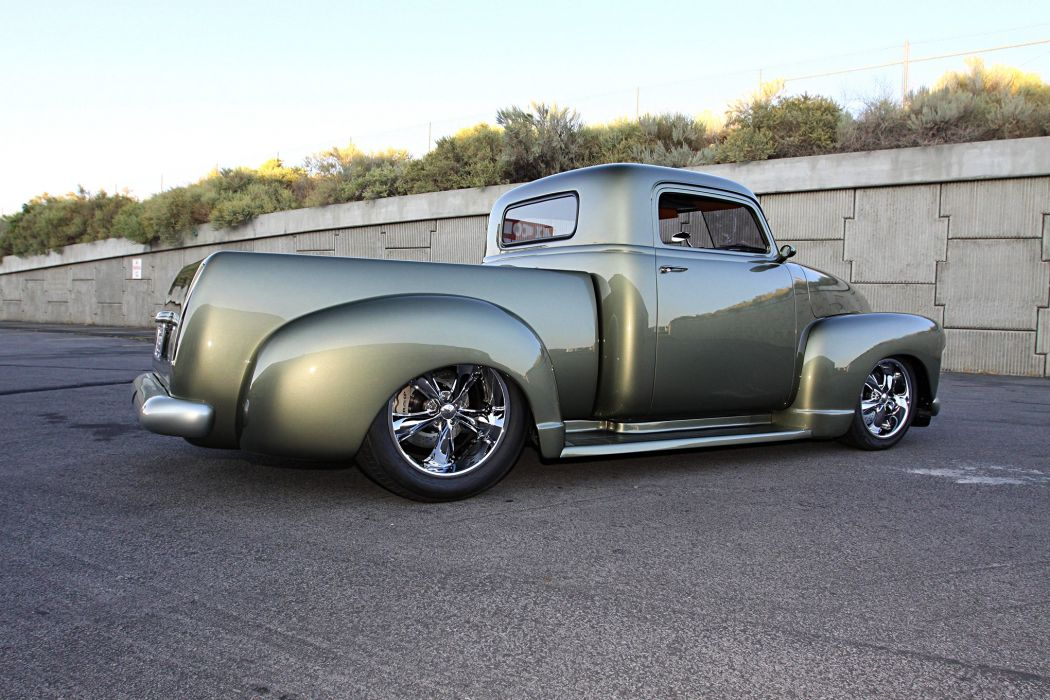 1948 Chevy 3100 pickup truck green wallpaper