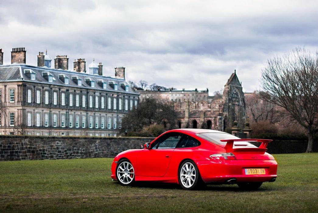 Porsche 911 GT3 Clubsport UK-spec (996) cars red 2003 wallpaper