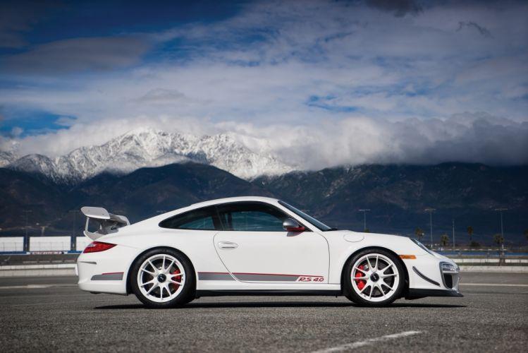Porsche 911 GT3 (RS) (4 0) North America (997) cars white 2011 wallpaper