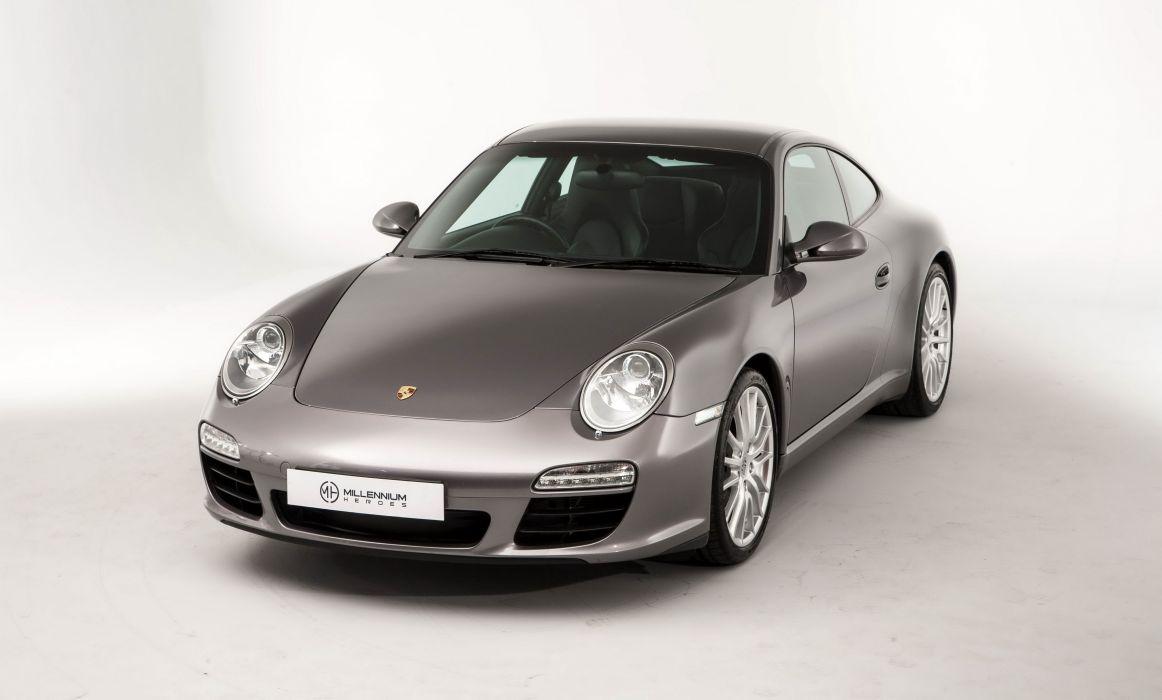Porsche 911 Carrera (S) Coupe UK-spec cars silver (997) cars 2008 wallpaper