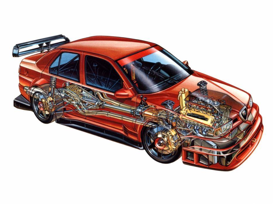 Alfa Romeo 155 2 5 V6 TI DTM Cutaway wallpaper