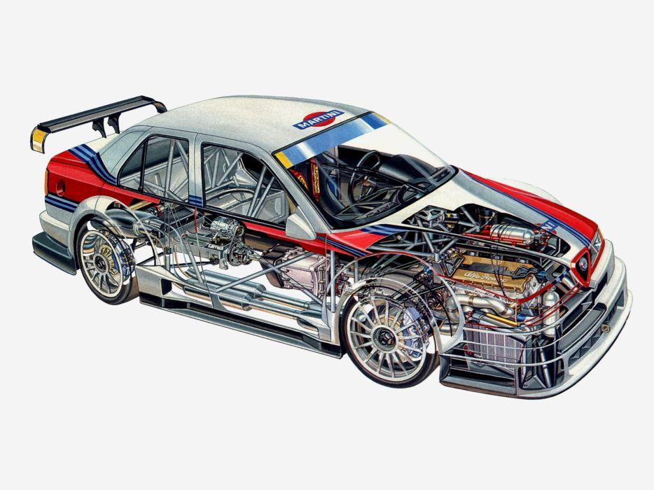 Alfa Romeo 155 2 5 V6 TI ITC Cutaway wallpaper