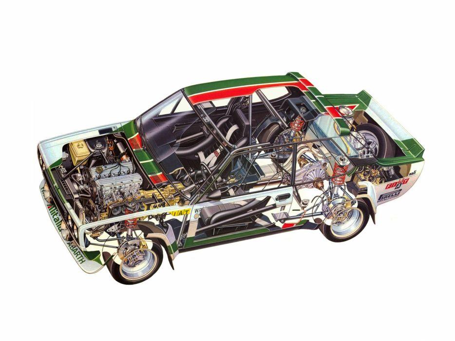 Fiat 131 Abarth Rally Cutaway wallpaper