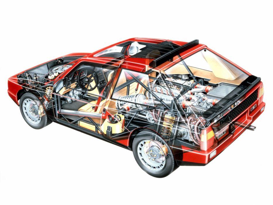 Lancia Delta S4 Road Car Cutaway wallpaper