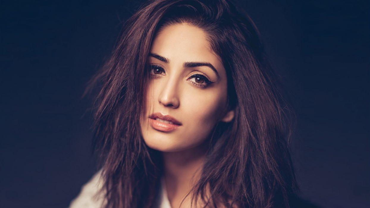 yami gautam bollywood actress model girl beautiful brunette pretty cute beauty sexy hot pose face eyes hair lips smile figure indian wallpaper