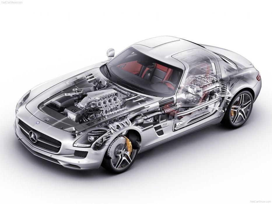 Mercedes-Benz SLS AMG 2011 Cutaway wallpaper
