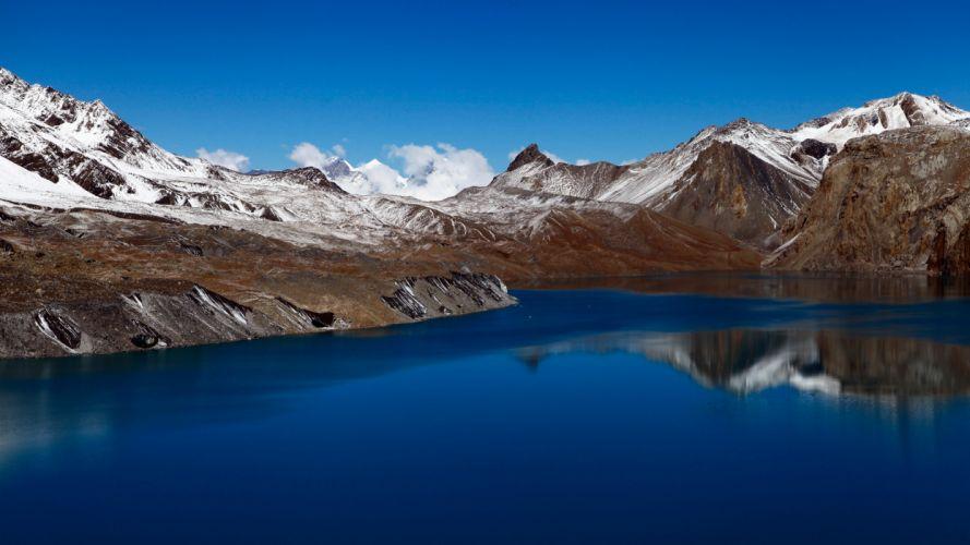 tilicho lake nepal 5k-5120x2880 wallpaper