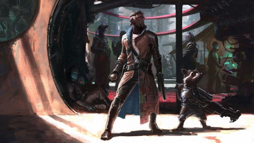 guardians of the galaxy artwork 4k-3840x2160 wallpaper