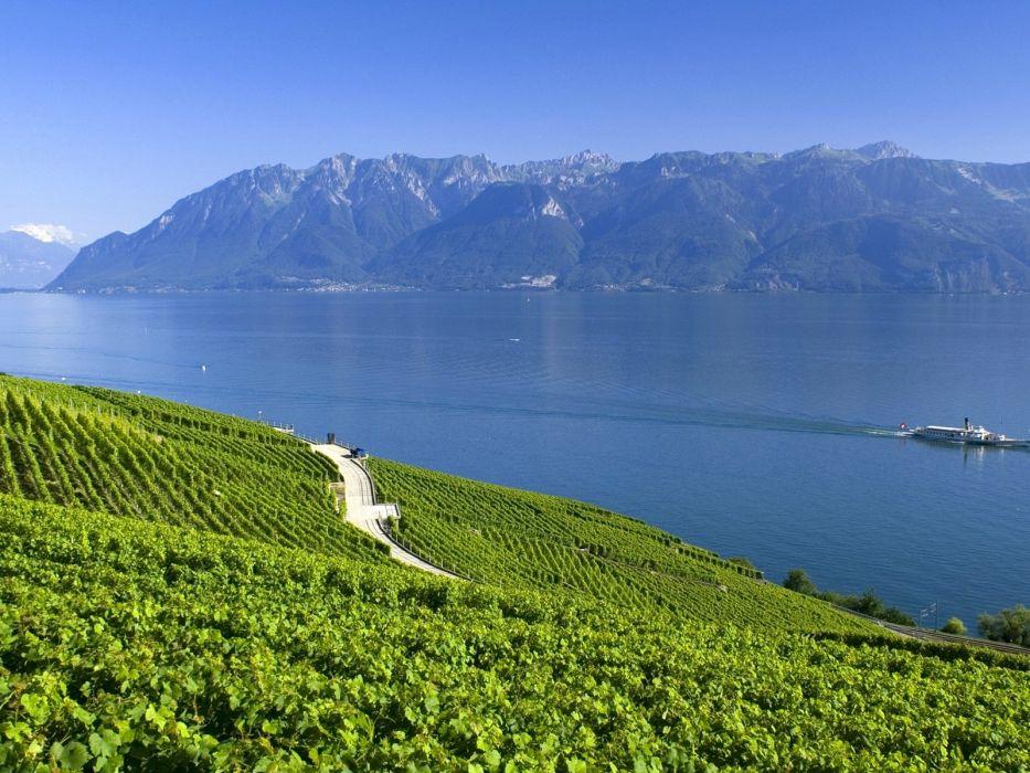 lago suiza alpes montay wallpaper