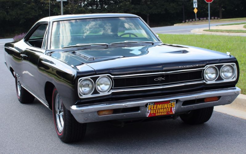 1968 Plymouth GTX 440 cars black wallpaper