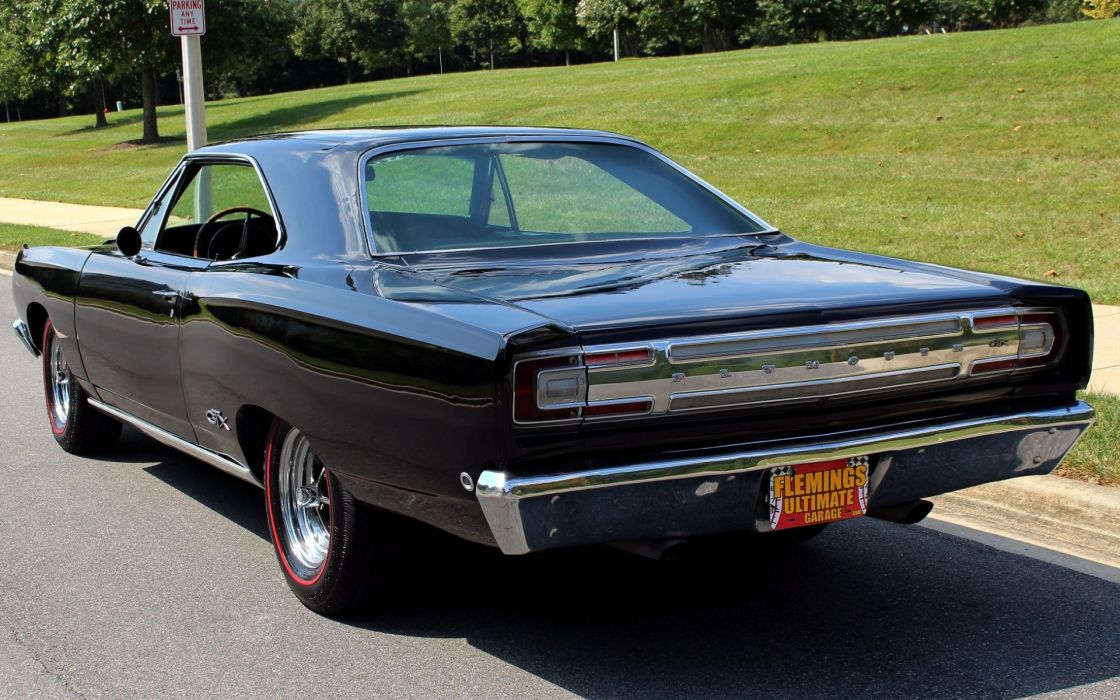 1968 Plymouth GTX 440 cars black wallpaper