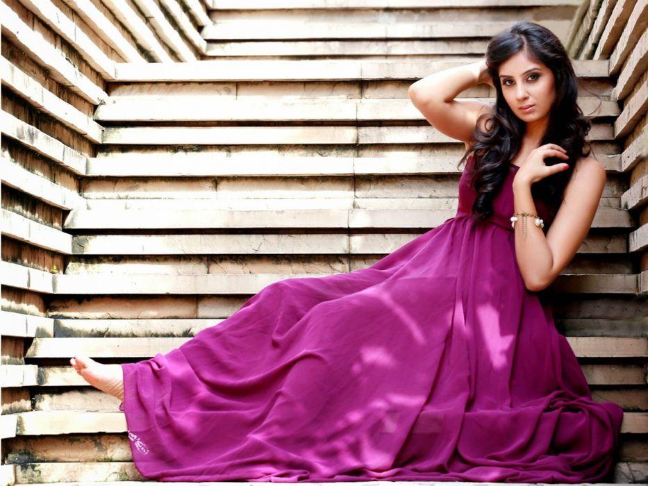 bhanushree mehra pink gown wallpaper