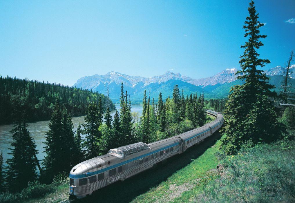 tren paisaje canada wallpaper