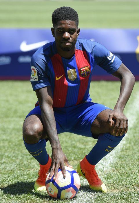 samuel umtiti futbolista francia fc barcelona wallpaper