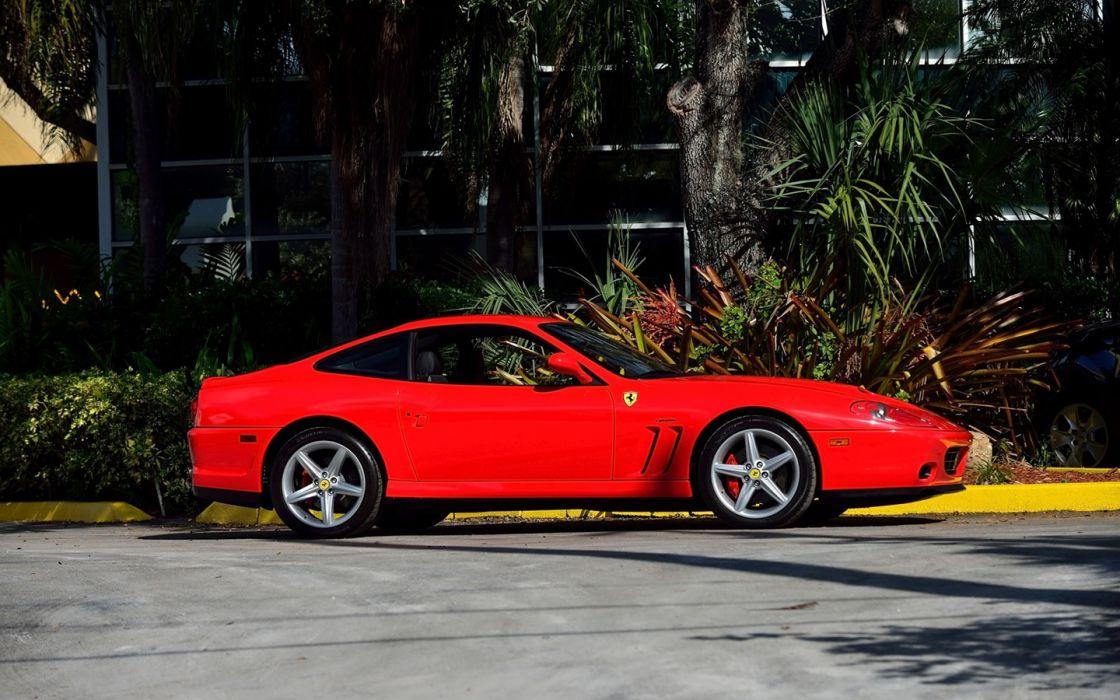 2005 Ferrari 575M cars red wallpaper