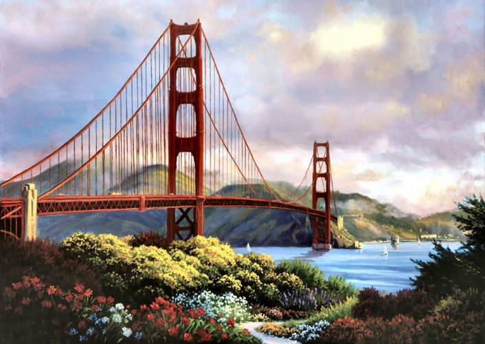 Morning at the Golden Gate wallpaper