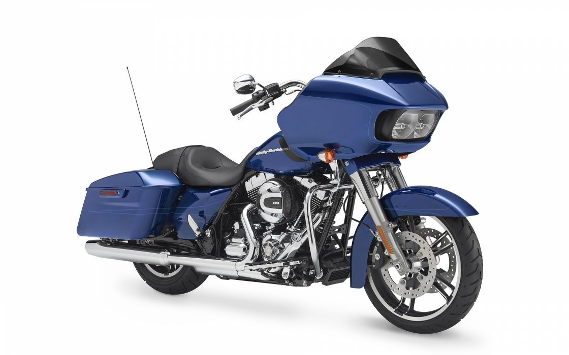 Harley-Davidson Touring Road Glide Special 2015 blue wallpaper