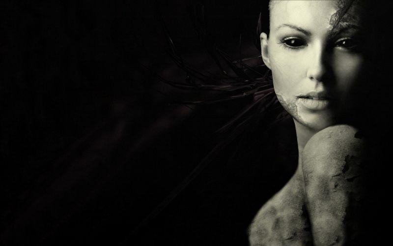 abstracto dark mujer wallpaper