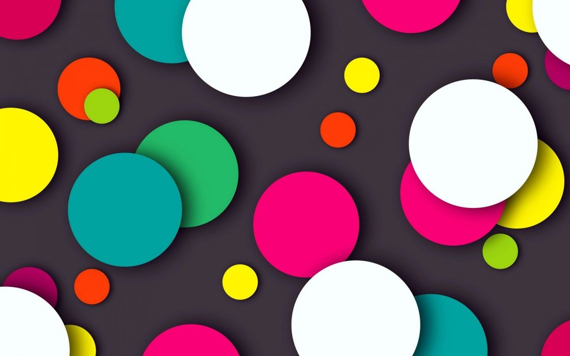 Colorful circles black background wallpaper