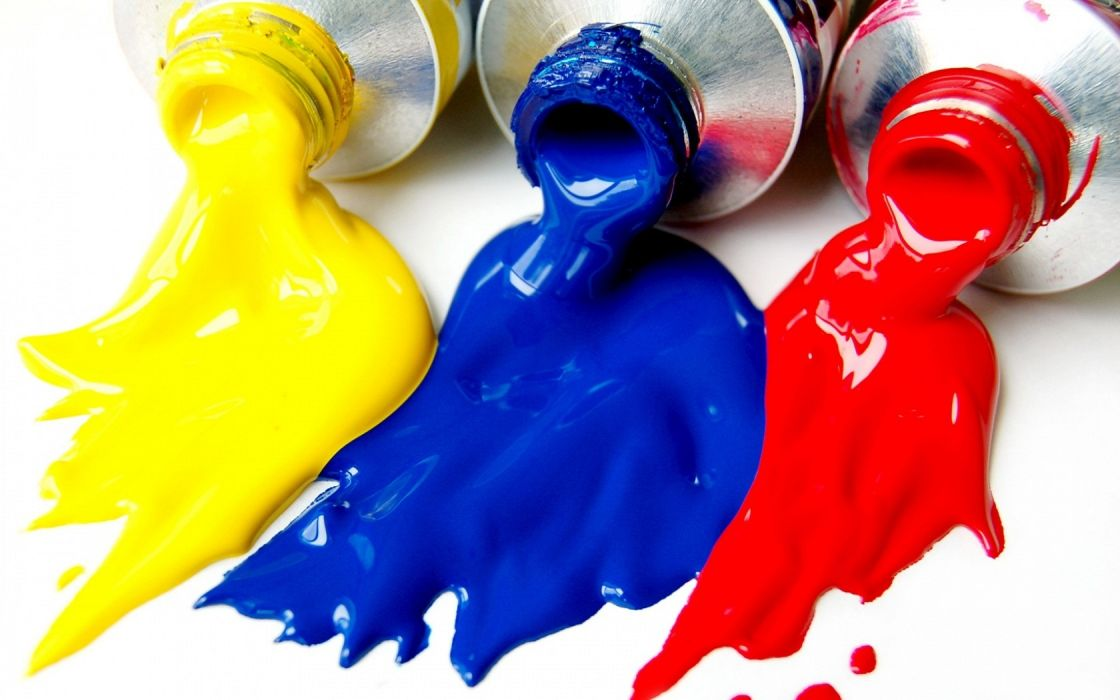 Yellow Blue Red Colors Bottle Fall wallpaper