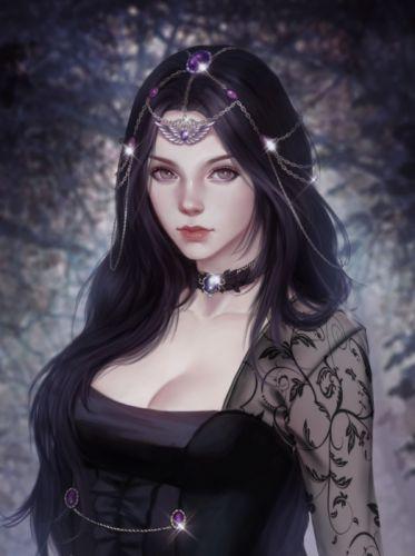 original woman fantasy beautiful long hair portrait wallpaper
