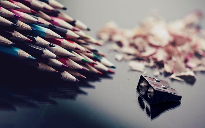 Multi color pencils sharpener wallpaper