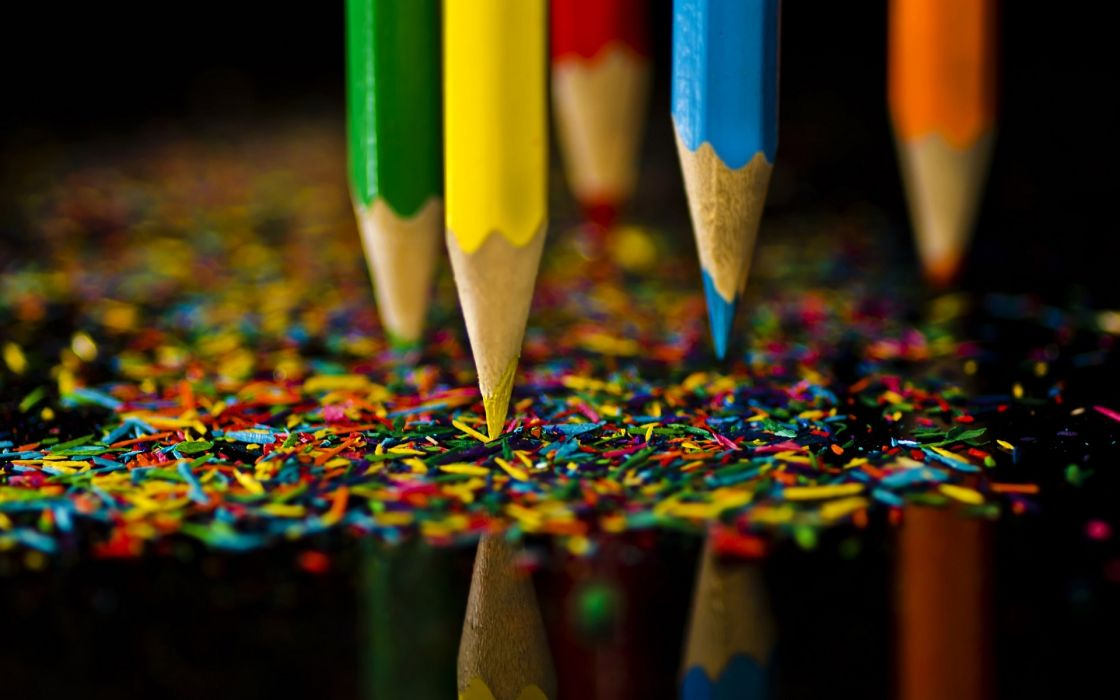 Colorful pencil beautiful abstract wallpaper