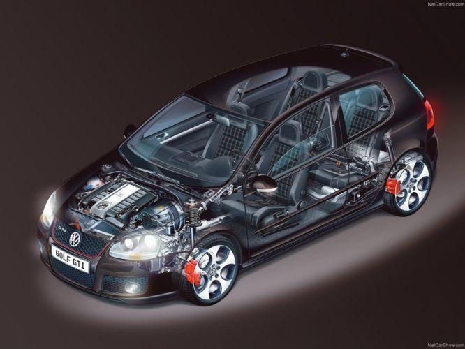 Volkswagen Golf GTI MkV Cutaway wallpaper
