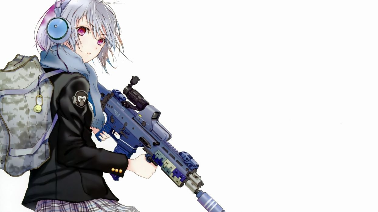 anime girl attitude backpack weapons 12215 1920x1080 wallpaper