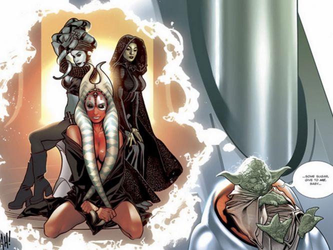 Yoda' harem comic wallpaper