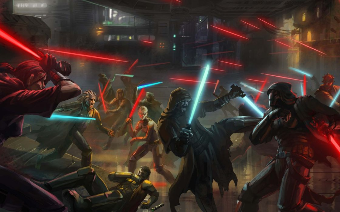 Star Wars comic accion luchas wallpaper