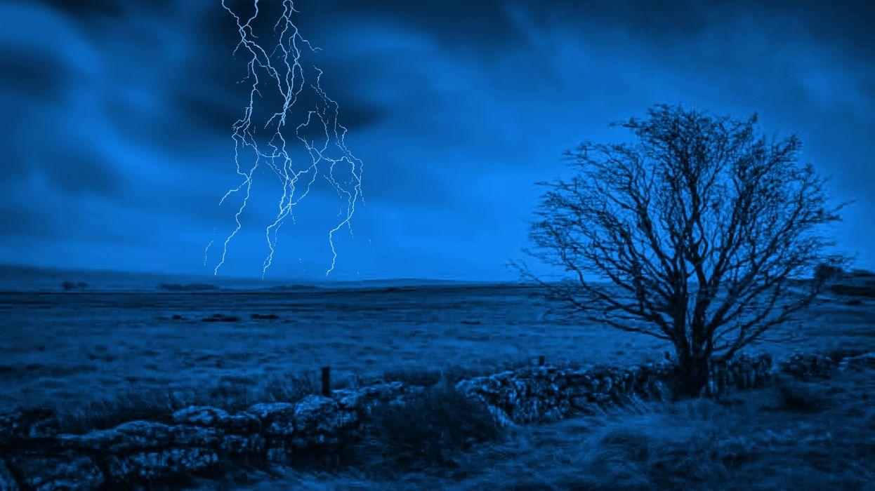 Blue Storm Rising wallpaper