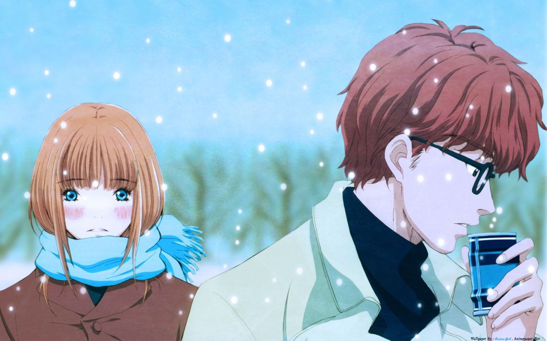honey and clower anime series couple wallpaper