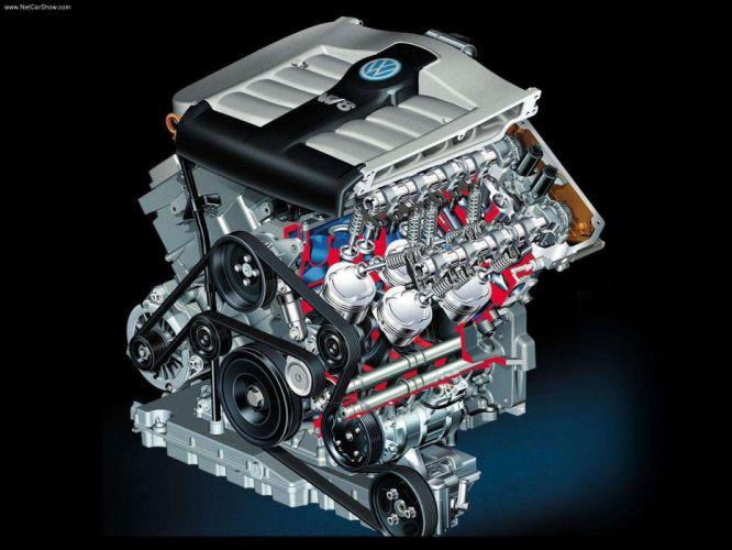 Volkswagen Passat W8 2001 Engine Cutaway wallpaper