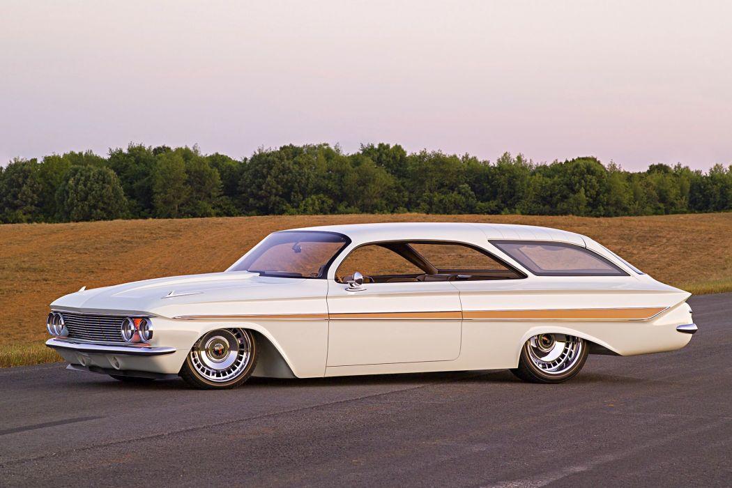1961 Impala Bubbletop Wagon wallpaper