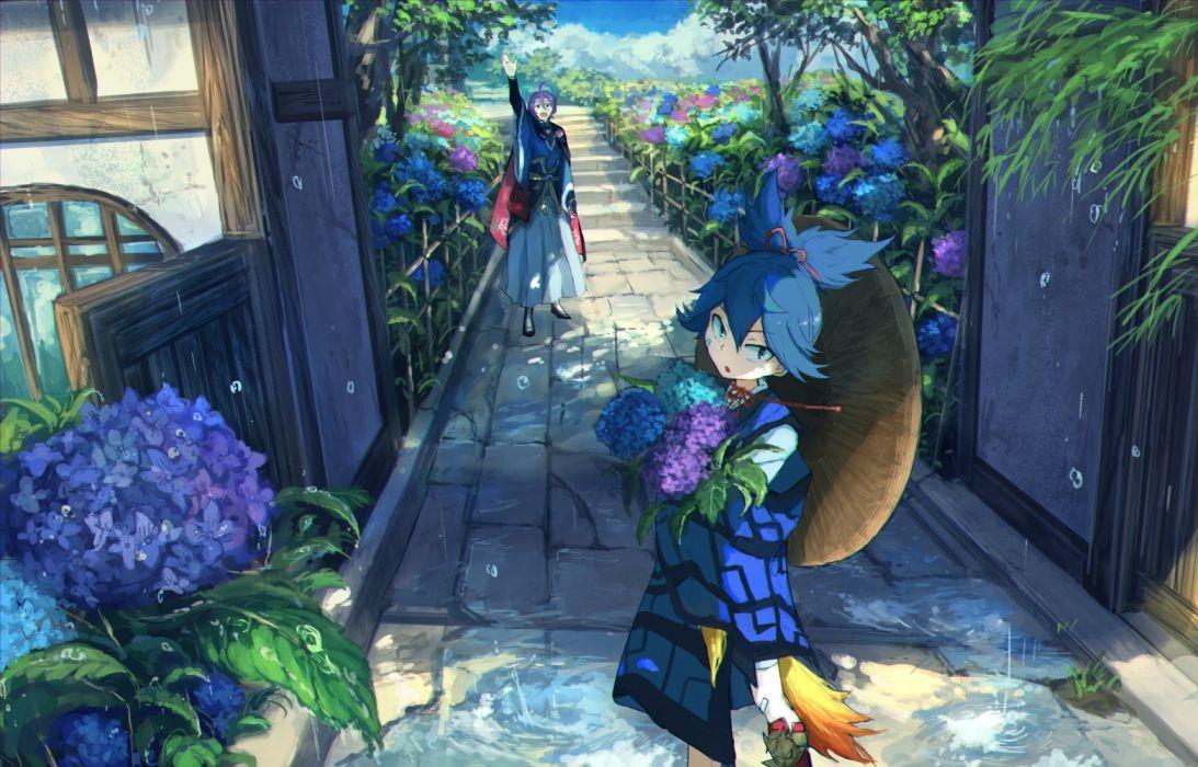 rain touken ranbu anime series boys characters original wallpaper