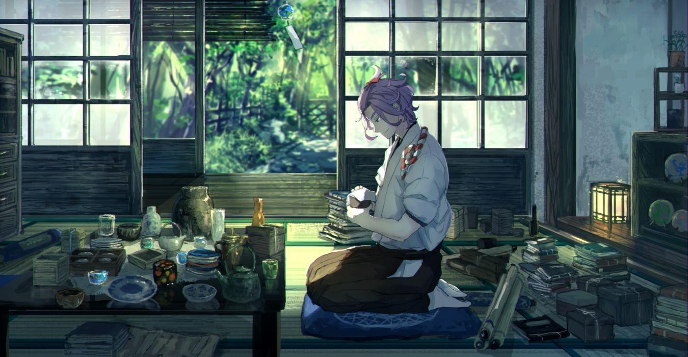 touken ranbu anime series boy guy characters original wallpaper