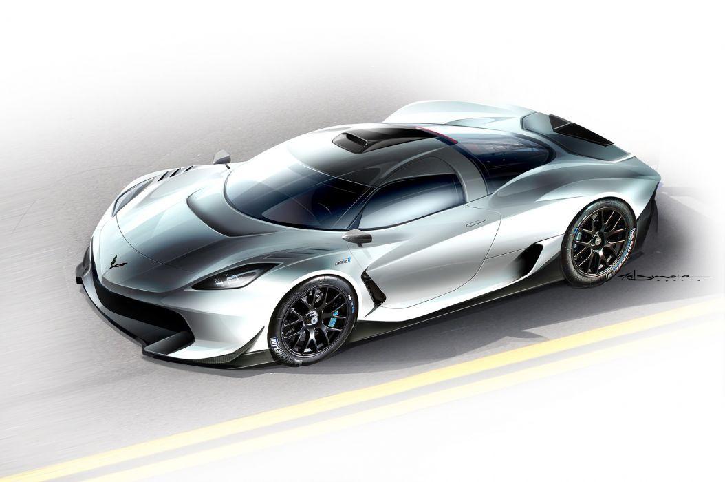 Corvette ZR-1 Zora Concept by Tom Matsumoto (front) wallpaper