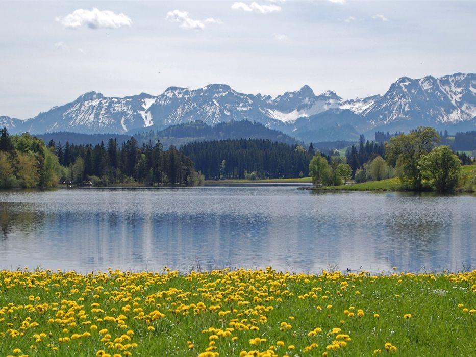 lago alpes alemania naturaleza wallpaper